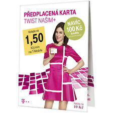 T-Mobile Czech Republic prepaid SIM card Credit 10 CZK