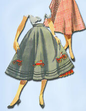 1950s Vintage Simplicity Sewing Pattern 4957 FF Misses Circle Skirt Size 26 W