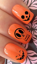 HALLOWEEN NAIL ART SET #684 x20 PUMPKIN FACES MIX WATER TRANSFER DECALS STICKERS