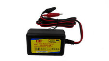 1A charger for 6V sealed lead-acid batteries with Alligator Clips