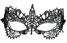 Gala Augenmaske schwarz für Damen NEU - Karneval Fasching Maske Gesicht