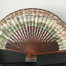 Grand EVENTAIL Vintage Japon Japanese FAN VENTAGLIO
