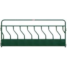 "NEW! Hay Feeder Panel With S-Bar 9 Feeding Spaces 144""L x 2""W, Green!!"