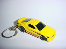 NEW 3D 2007 FORD MUSTANG GT CUSTOM KEYCHAIN keyring key gt YELLOW/BLUE' roush