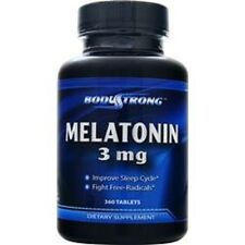 Bodystrong Melatonin 3 mg 360 Tablets Sleep Improve MadeinUSA Free Shipping