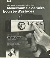 PUBLICITE ADVERTISING 054  1973   AGFA -GEVAERT     La caméra MOVEXOOM