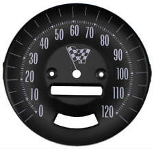 65 GTO LEMANS SPEEDOMETER FACE, FOR CARS WITH RALLY GAUGES