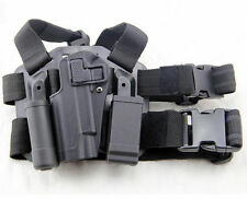Tactical Drop Leg Left Hand Holster With Magazine Flashlish Pouch for Colt 1911