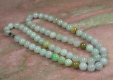 Green Yellow 100% Natural A JADE JADEITE Bead Beads Necklace 279872