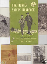 5 photos Midwest Hunting 1917-'40s (incl RPPC)+ NRA Hunter Safety Handbook '57