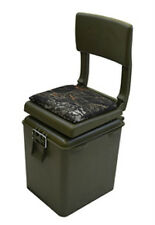 HUNTING  SEAT WITH COOLER- COLOR BASE GREEN/SEAT CAMO--FOLDING SEAT -5613-252