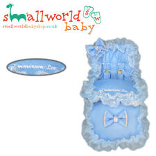 Personalised Blue Bling Footmuff Cosytoes With Harness Pads