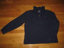 Polo Ralph Lauren navy blue zip SHIRT medium M purple pony t sweater zipper vtg