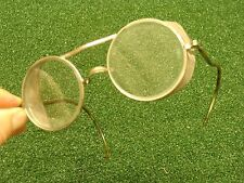 "Vintage antique PIONEER safety glasses STEAMPUNK eyewear ""bausch & lomb style"""