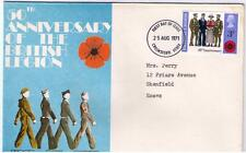 STAMPS. ROYAL MAIL FDC – 50th Anniversary of The BRITISH LEGION – 25th Aug 1971