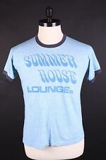 """VINTAGE """"RUSSELL"""" TRI BLEND RAYON RINGER T SHIRT USA MENS LARGE"""