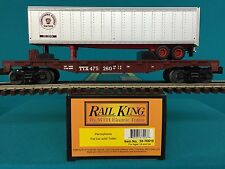 MTH O/O-27 30-76610  Pennsylvania Flat Car w/40' Trailer NIB