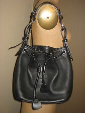 DOONEY & BOURKE Authentic Designer Black Leather Shoulder-Bag Excellent
