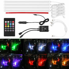 7 Color RGB Wireless Music Control LED Strip Lights Car Interior Kit Error Free