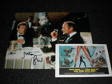 Julian Glover Signed - James Bond For Your Eyes Only Photo & Postcard - Skyfall
