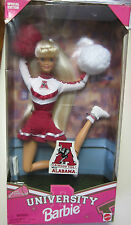 RARE University Of Alabama 1996 Barbie Doll Still in Case(Top of box discolored)