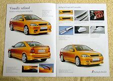 Vauxhall Astra Coupe & Cabrio Irmscher FOLLETO 2002