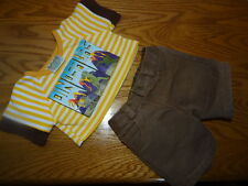 Build a Bear Build a Dino line Clothes Outfit Boy's  Dinosaur shirt/ brown Pants