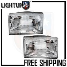 Headlights Headlamps Pair Left right set for 93-98 Jeep Grand Cherokee