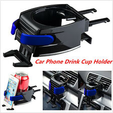 Universal Car Air Vent Mount Drink Bottle Cup Holder Bracket Stand Phone Holder