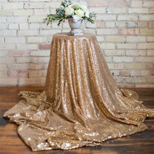 10% This Week: Wedding Gold GLITZ Sequin Tablecloth Linens, table runner