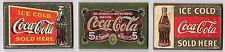 USA Coca Cola Kühlschrank Magnete Schilder 3 Stück Set