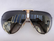 VINTAGE LENS BY POLAROID AVIATOR SHAPED SILVER GOLD ACCENTS 1980'S SUNGLASSES