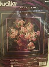 SEALED Bucilla Counted Cross Stitch Kit Classic Roses