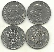 A Higher Grade Lot 4 South Africa 50 Cents-1966,1978,1979,1983 -Sep635