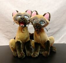 Disney World Lady & The Tramp Siamese Cats Pair Twins Si Am Plush 10""