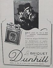 PUBLICITE BRIQUET DUNHILL MODELE METAL ARGENT OR DE 1927 FRENCH ADVERT LIGHTER