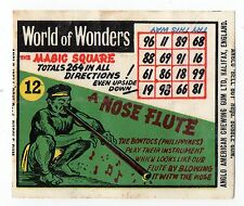 Anglo Wax Wrapper World of Wonders #12 Nose Flute Magic Square