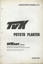 TVK Knox Junior GT piantapatate parti e gli operatori manuale
