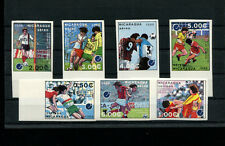 Nicaragua 1988 Soccer/Football Euro Cup  Michel 2861-67 IMPERF SET OF 7