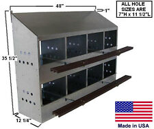 CHICKEN COOP Commercial - Nesting Box  - Roost - 8 Hole - Holds 32 Hens - USA