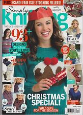 Simply KNITTING Magazine #127 DECEMBER 2014, ONLY MAGAZINE NO GIFT.