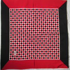 YVES SAINT LAURENT  Authentique  Foulard   100% soie  (T)BEG vintage  85 X 90 cm