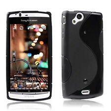For Sony Xperia LT15i  Arc S LT18i New Black Skidproof Rubber case cover
