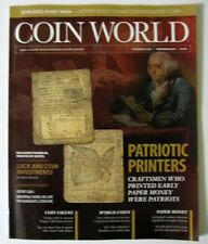COIN WORLD Magazine November 2015 - Patriotic Printers Ben Franklin Paper Notes