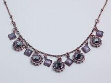 Lia Sophia style Demure Lavender copper necklace