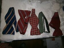 Lot of 5 Self Tie Bow Tie Set Silk Handmade Adjustable Free Shipping US