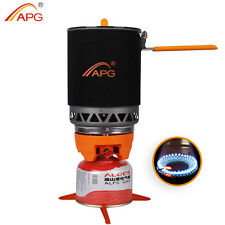 Portable Best Camping Gas Stove Cooking System Butane Propane Burners 1600ml APG