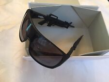 LINDA FARROW X JEREMY SCOTT M16 M-16 MACHINE GUN SUNGLASSES MATTE BLACK NEW RARE