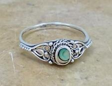 PRETTY STERLING SILVER ABALONE SHELL RING size 8  style# r1660