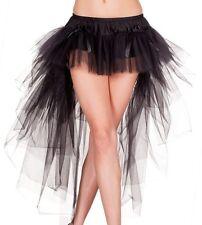 Black Hi-Lo Multi Layered Tulle Petticoat Skirt Gothic Club Burlesque Cabaret